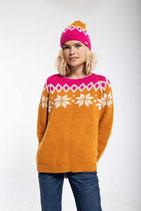 Danefae Hytte Sweater Honey Offwhite/Hot