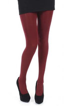 "Pamela Mann Panty ""Opaque Tights-Burgundy"""