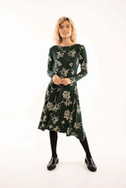 Danefae Dress Sigrid Black green HEMLO