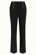 King Louie Lara Sailor Pants Broadway - zwart