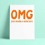 """Studio Inktvis kaart """"OMG Mini You"""""""