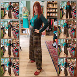 King Louie Palazzo Pant Zeppelin Check