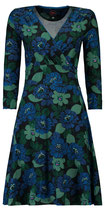 Tante Betsy Dress Swirley Forest Ink