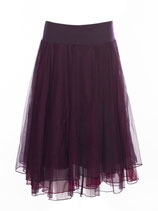Lalamour Mesh Skirt Aubergine
