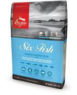 Orijen 6 Fish сухой корм c рыбой для кошек всех пород и возрастов 0,34кг