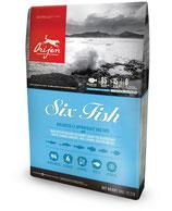 ORIJEN 6 FISH сухой корм для собак всех пород 2 кг
