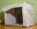 Палатка-трансформер 75х60х50 белая в голубой цветочек