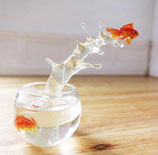 Jumping goldfish miniature (The seahorse stand is not included)