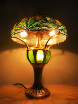 Tiffany lamp dragonfly miniature, real bronze lamp, art nouveau