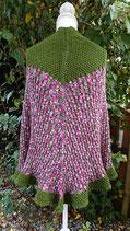 Poncho grün/pink gesprenkelt