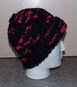 Hatnut Mütze gaudy schwarz/pink