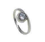 RH454 Edelstahl Ring mit Zirkonia