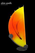 Viertelmond Kerze gelb