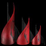 Segelkerze rot/schwarz 2er-Set 2 Dochte