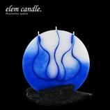 Vollmond Kerze blau