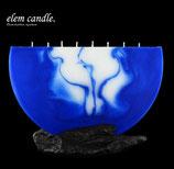 Halbmond Kerze blau