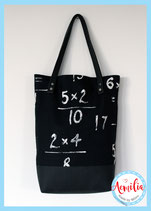 Luxe canvas tote - Math / Wiskunde