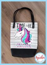 Luxe canvas tote - Unicorns