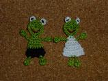 Applikation Frosch-Brautpaar
