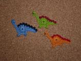 Applikation Langhals-Dinosaurier klein