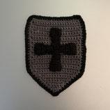 Applikation Ritter-Schild mit Kreuz oder Schwert