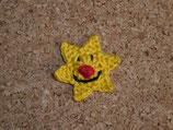 Applikation Stern mit roter Nase (klein)