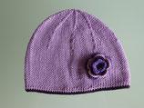 """Mütze """"Blumenkind"""", flieder mit lila Rand"""
