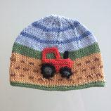 """Mütze """"Traktor"""", braun / grün / blau"""