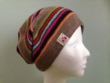 Ringelmütze Beanie Style, taupe / marine / orange / pink / türkis / rot / grün