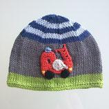 """Mütze """"Feuerwehr"""", grau / grüne / blau"""
