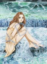 Agnes am Wasserfall
