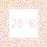 Geschenkgutschein - 25,00 €