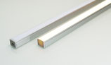 Aluminiumprofil mit opaler Abdeckung 10x8mm