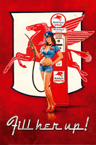 Mobil Gas Pin Up
