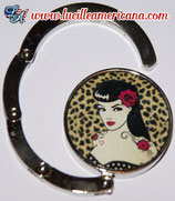 Accroche-sac Pin Up Rose