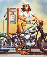 Harley Pin Up Gasoline
