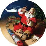 Sous verre/bouteille Coca Santa
