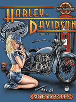 Harley Pin Up Genuine