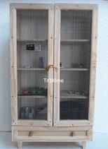 Armoire en bois pour poupée Barbie (portes grillagées)