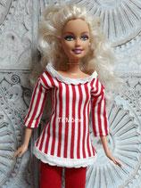 Pantalon, tunique et sac à main pour poupée Barbie