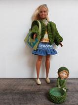 Ensemble jupe, chemisier, veste pour Barbie ronde
