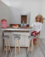 Cuisine pour poupée Barbie