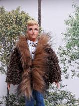 Manteau col fourrure pour Ken
