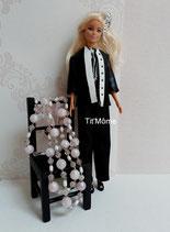Ensemble pantalon, haut et veste pour poupée Barbie
