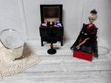Coiffeuse avec tabouret pour poupée Barbie