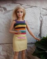 Ensemble vêtements et sac Barbie ronde