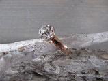 Smalle ring met verwisselbare steen Rosé goud
