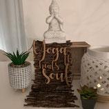 "Wandobjekt  ""Yoga heals the Soul"""