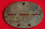 Original WWII German Turk ID disc - Dog Tag #6