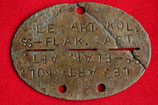 Original WWII German SS ID disc - Dog Tag #5
